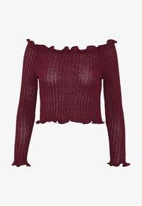 Glamorous Petite - EXCLUSIVE BARDOT - Strickpullover - dark red - 4