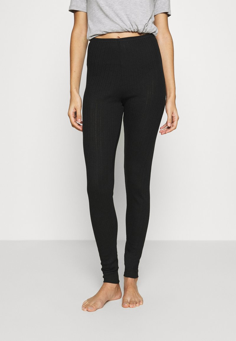 Marks & Spencer London - NEW THERMAL LEGGI - Pyjama bottoms - black mix