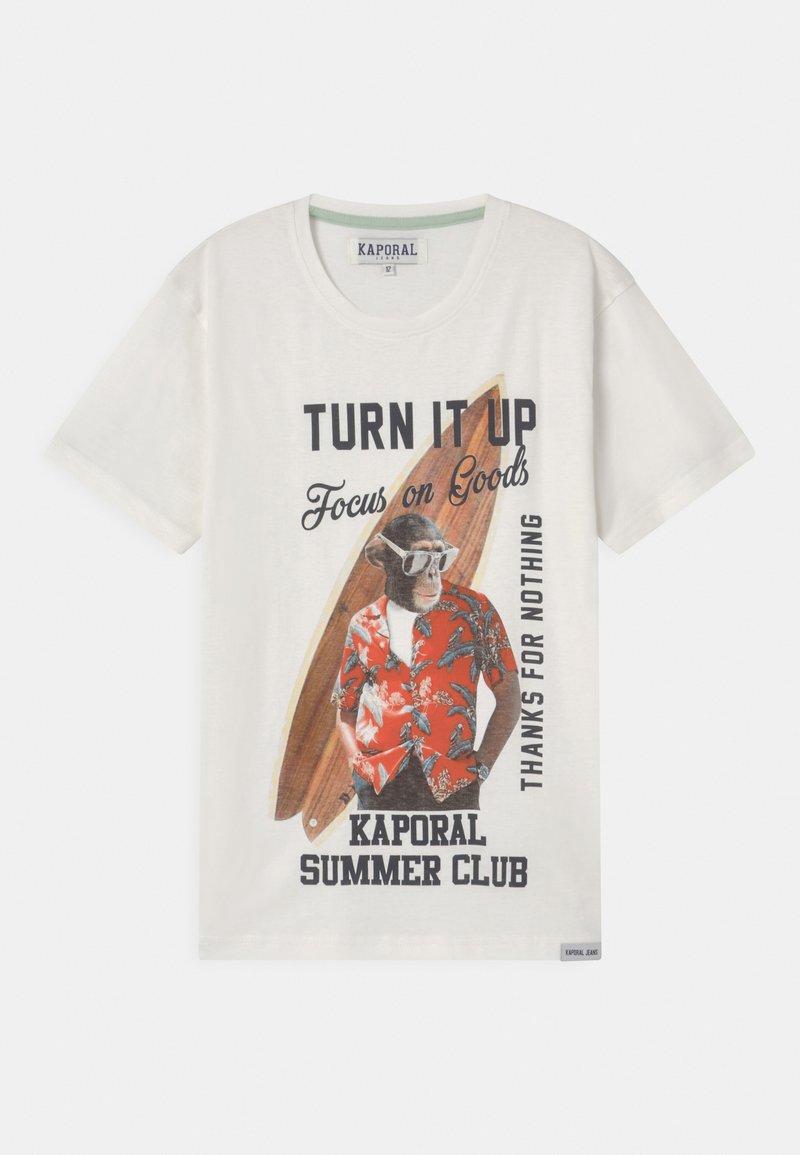 Kaporal - SURFING MONKEY - Print T-shirt - white