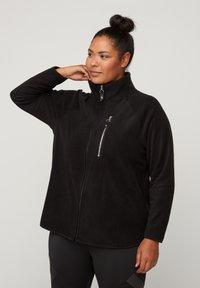 Active by Zizzi - Fleece jacket - black - 0