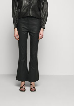 MAUSER - Leather trousers - black