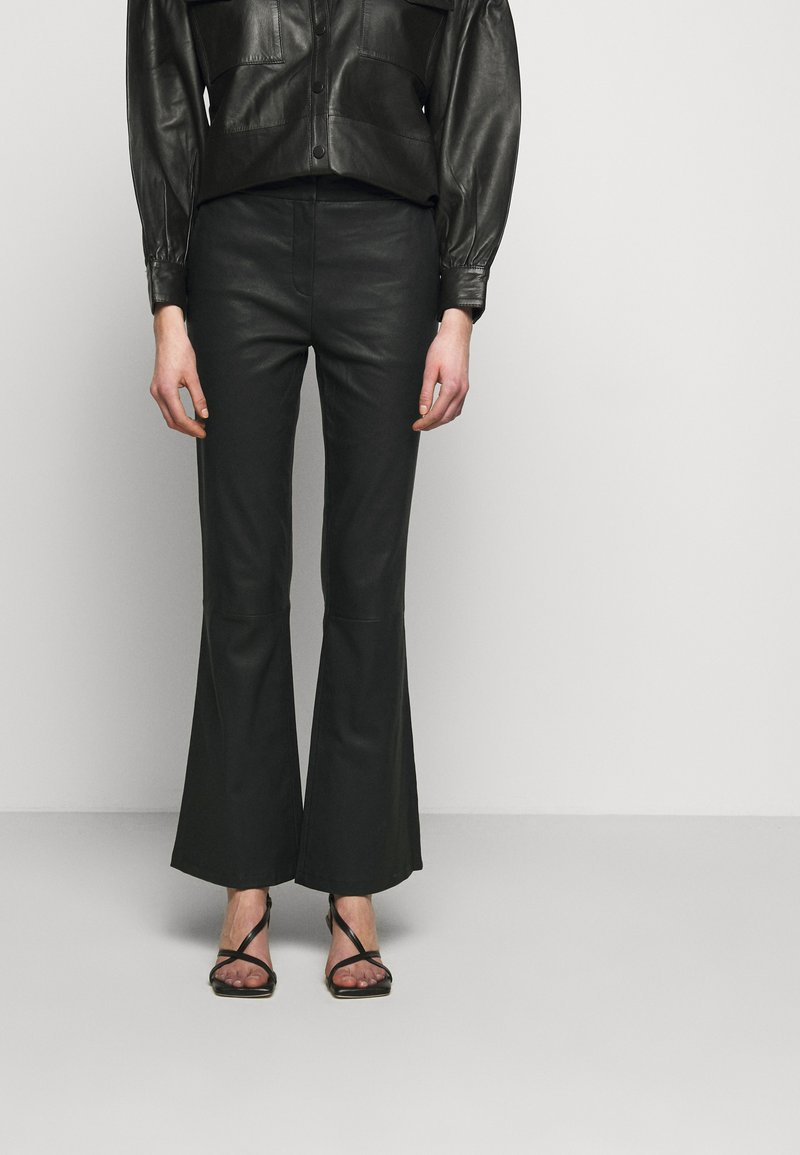 2nd Day - MAUSER - Leather trousers - black
