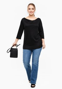 Triangle - MIT WASSERFALL - Long sleeved top - black - 1