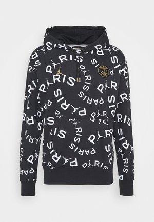 PARIS ST GERMAIN HOODIE - Club wear - black/metallic gold