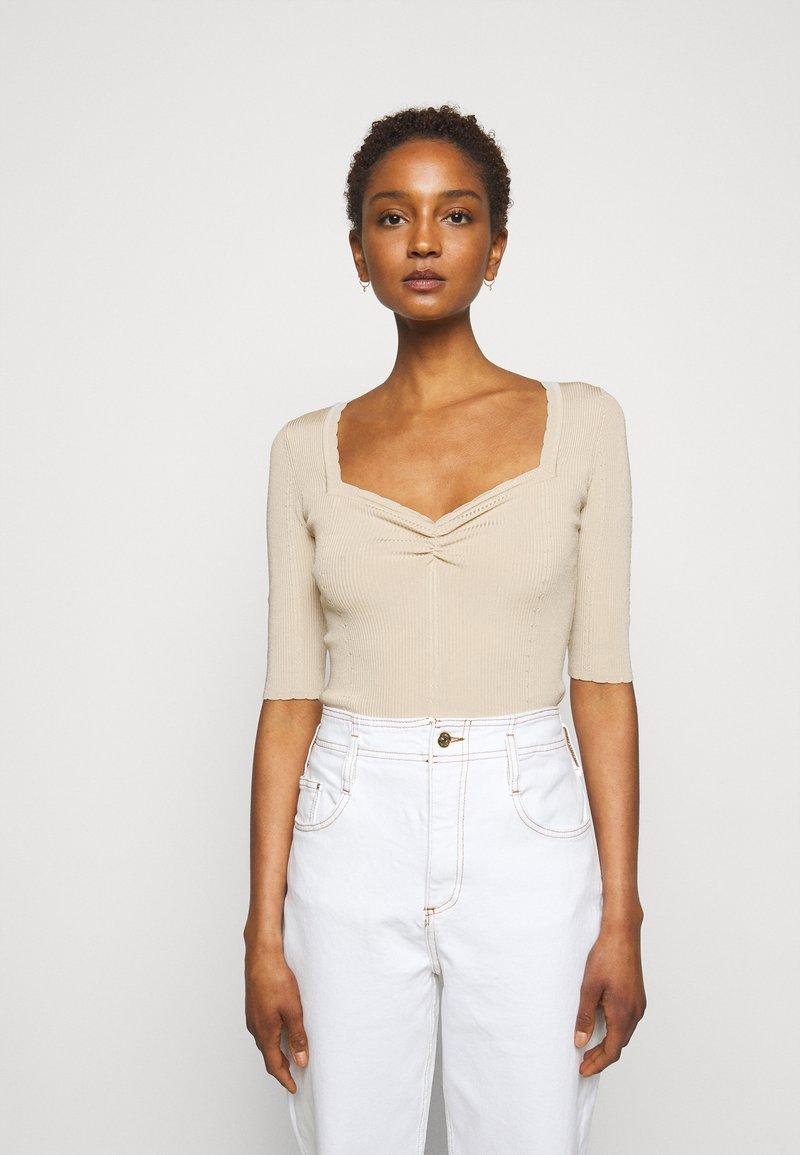 Claudie Pierlot - MINILI - Jednoduché triko - beige