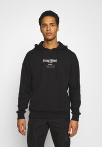 Jack & Jones - JORSTRAY HOOD - Sweatshirt - black - 0