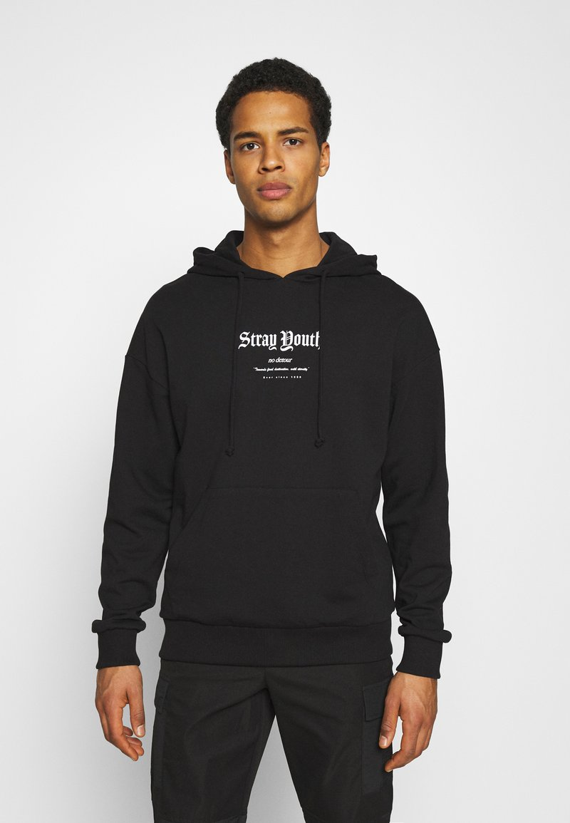 Jack & Jones - JORSTRAY HOOD - Sweatshirt - black