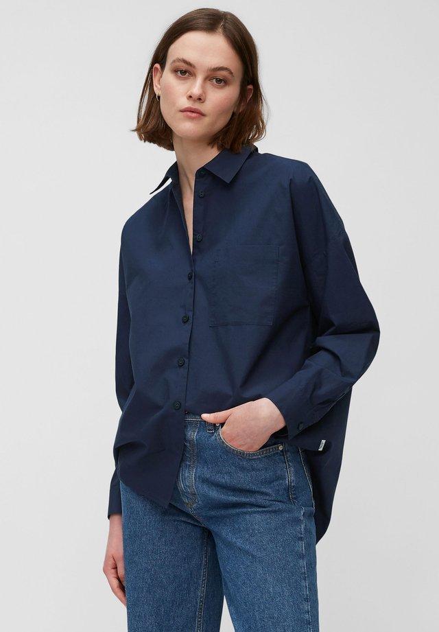 Button-down blouse - dress blue