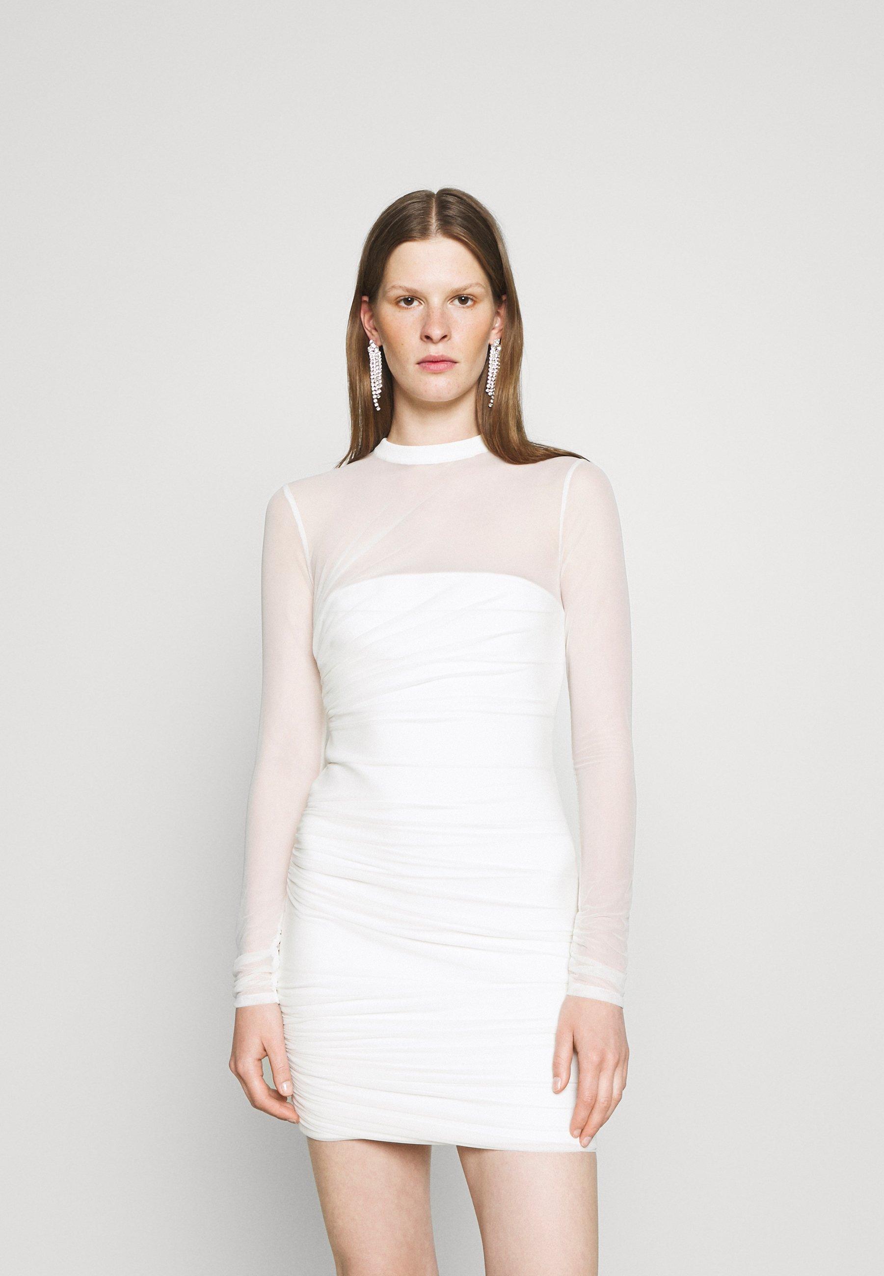 Women HERVE LEGER X JULIA RESTOIN ROITFELD OVERLAY LONG SLEEVE  - Shift dress