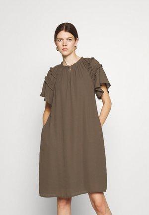 CAMILLA SILICA DRESS - Day dress - major brown