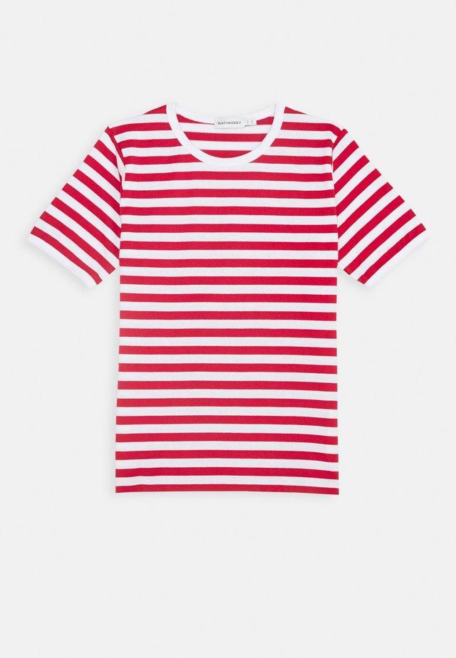 LASTEN LYHYTHIHA - T-shirt con stampa - white/red