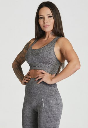 ESSENTIAL SEAMLESS - Sports bra - grey