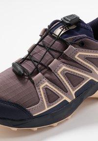 Salomon - SPEEDCROSS CSWP - Hiking shoes - flint/evening blue/bellini - 5
