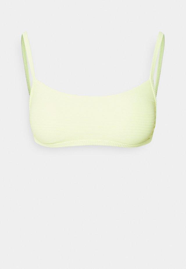 TANLINES BRALETTE - Bikiniöverdel - shadow lime