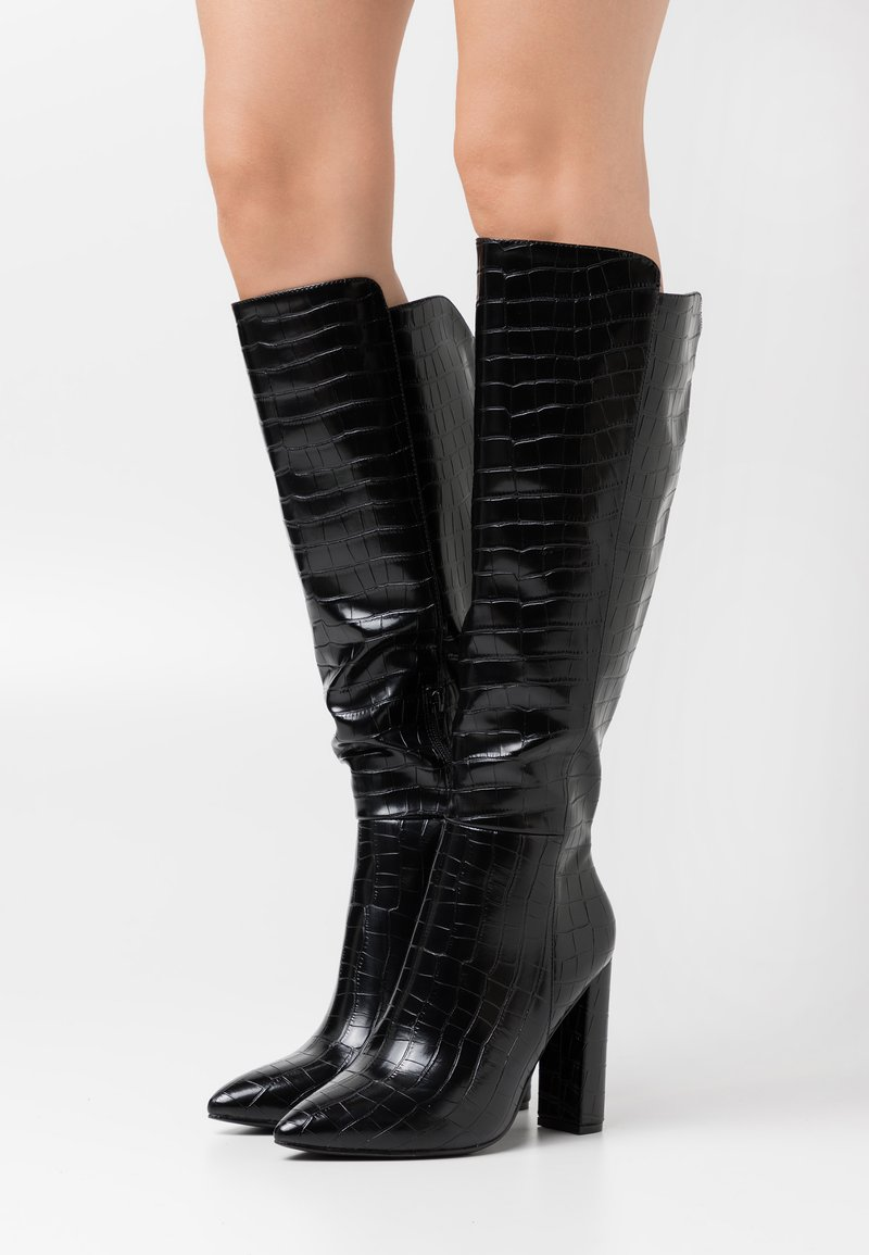 Glamorous - High heeled boots - black