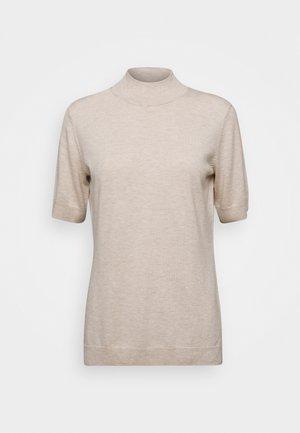 MOCK NECK - T-shirts med print - light powder beige melange