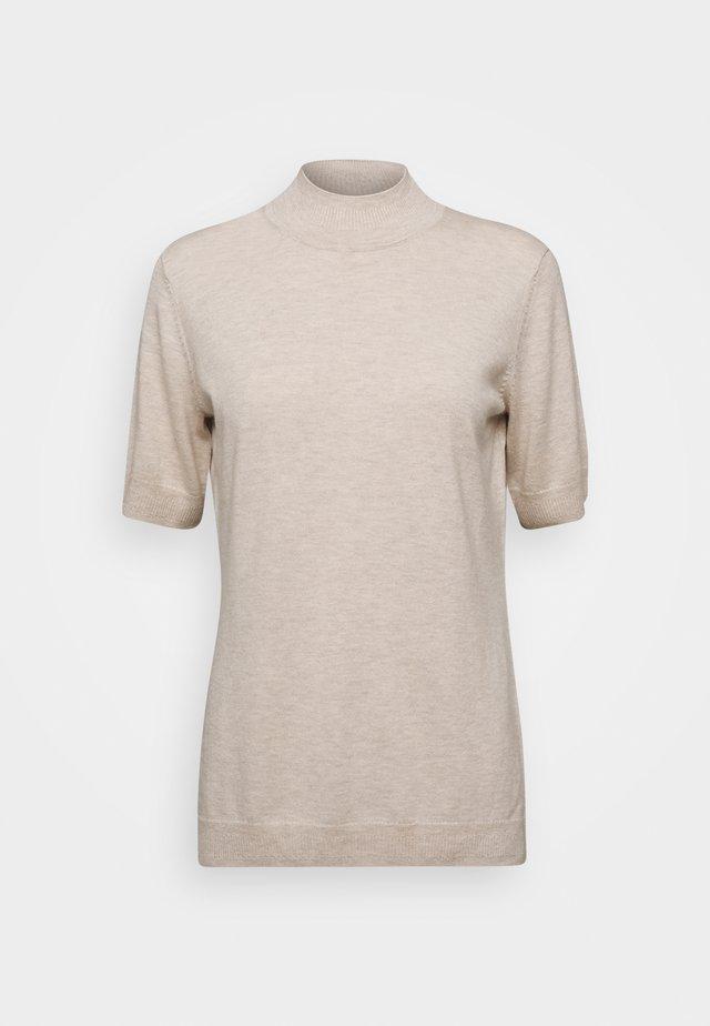 MOCK NECK - T-shirts print - light powder beige melange