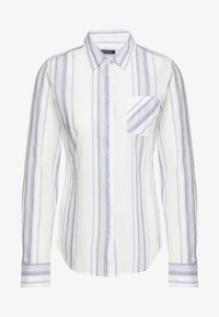 Marc O'Polo - BLOUSE KENT COLLAR LONG SLEEVED SLIM FIT CLASSIC STYLE - Button-down blouse - multi/silent sea - 0