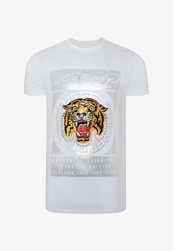 TILE-ROAR T-SHIRT - T-shirt con stampa - white