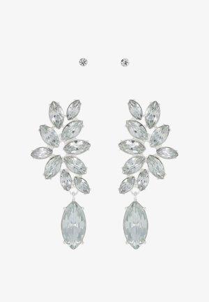 PCDIAM EARRINGS KEY 2 PACK - Boucles d'oreilles - silver colour/clear