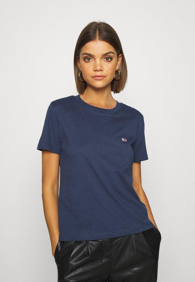 REGULAR C NECK - Basic T-shirt - blue
