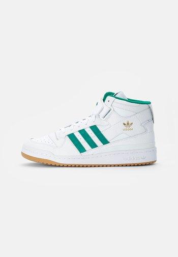 FORUM MID - Sneakers alte - white/gold met/gum
