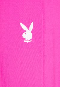 Missguided - PLAYBOY SPLIT STRAIGHT LEG TROUSERS - Pantalones deportivos - pink - 2