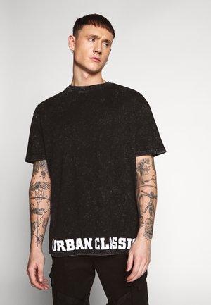 ACID WASH LOGO TEE - Print T-shirt - black