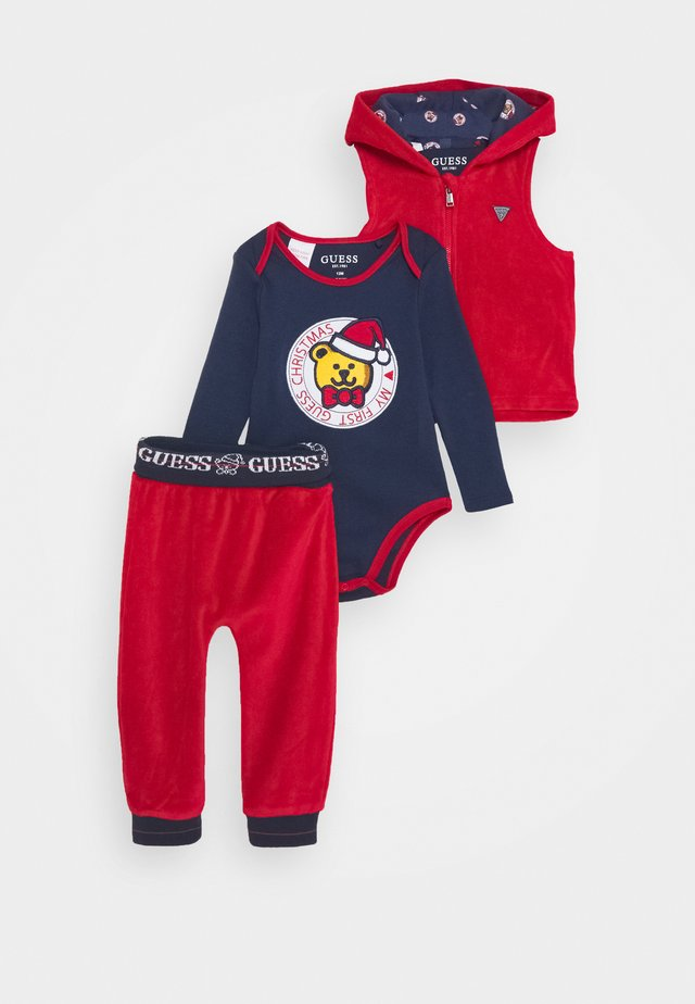 VEST BODY PANTS BABY SET - Body - tulip red