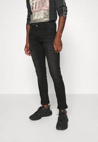 INDICODE JEANS - PALMDALE - Slim fit jeans - ultra black - 0