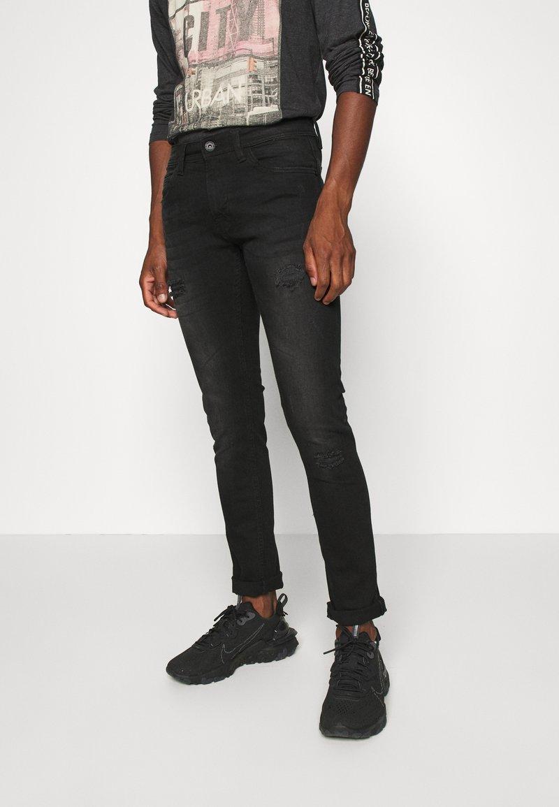 INDICODE JEANS - PALMDALE - Slim fit jeans - ultra black