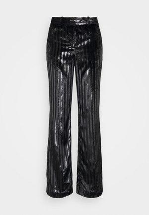 STRIPE PANT - Spodnie materiałowe - black