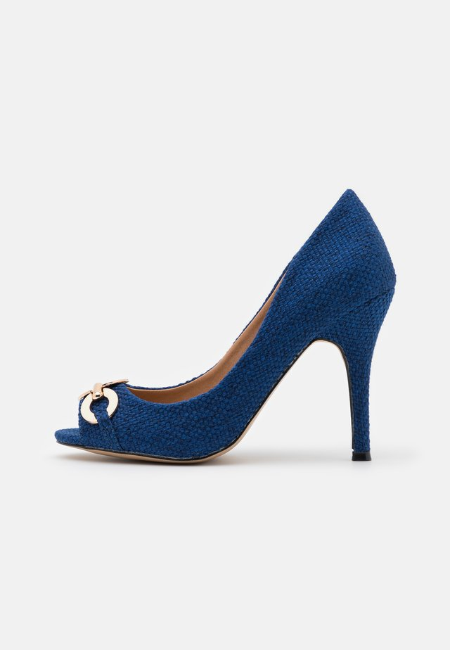 CHURCH - Peep toes - blue