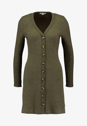 BUTTON THROUGH WAFFLE DRESS - Vestido de punto - olive