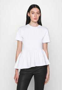 KARL LAGERFELD - RUFFLE - T-shirts print - white - 0