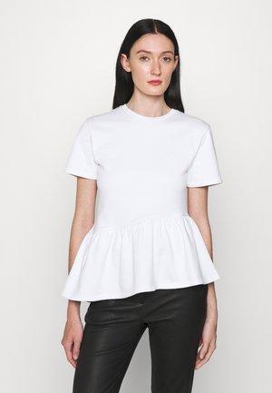 RUFFLE - Print T-shirt - white
