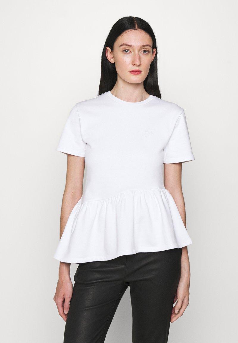 KARL LAGERFELD - RUFFLE - T-shirts print - white