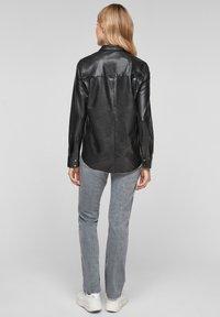 Q/S designed by - Button-down blouse - black - 2