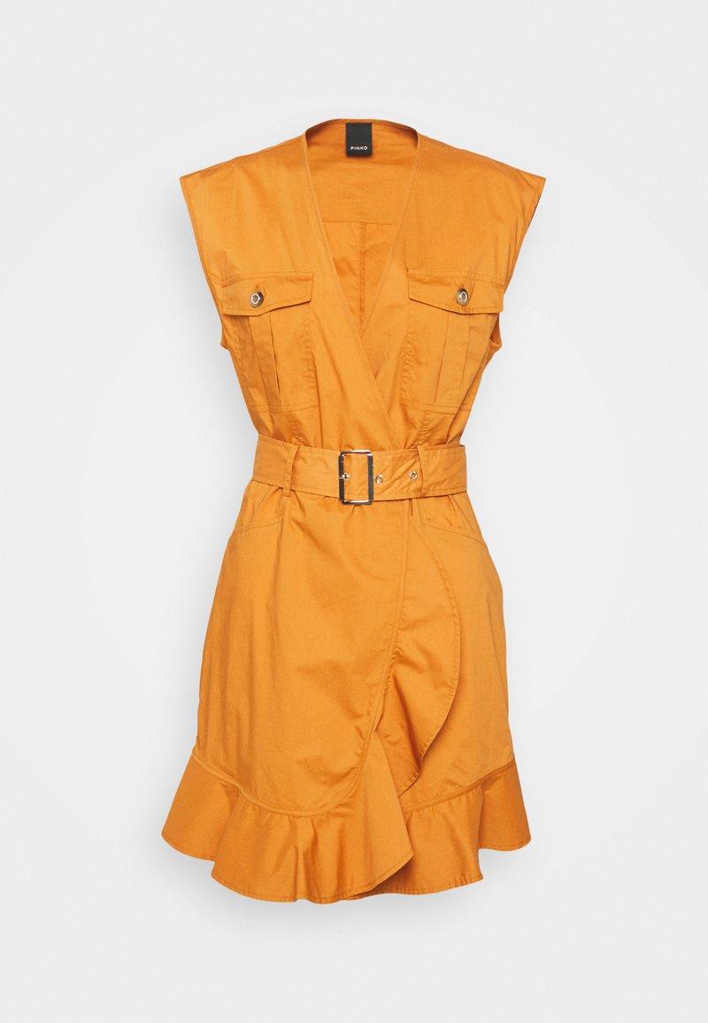 Pinko - ATTIVO ABITO PESANTE - Day dress - mustard yellow