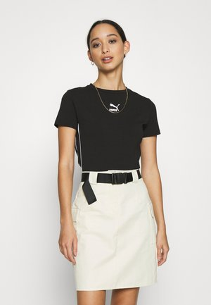 CLASSICS TIGHT CROPPED - T-shirt con stampa - black