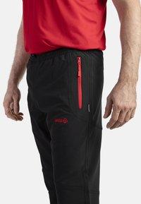 IZAS - CLOISTER - Pantalons outdoor - black/red - 3