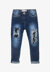 MINOTI - SEQUINS PATCHES - Jeans baggy - blue denim - 1
