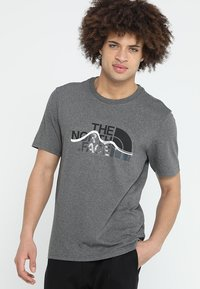 The North Face - MOUNTAIN LINE TEE - Print T-shirt - med grey heather - 0