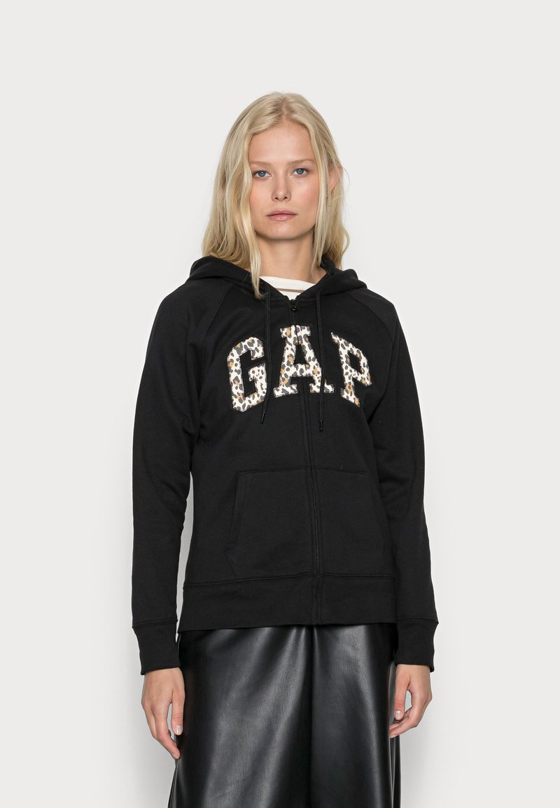 GAP - NOVELTY - Sweater met rits - black