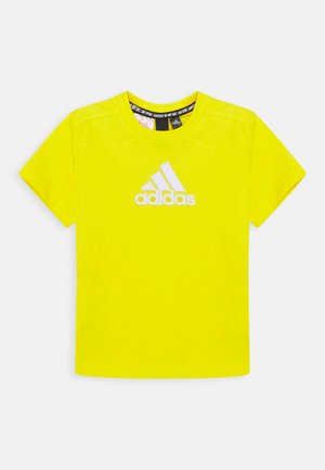 BOS UNISEX - T-shirt imprimé - yellow/white