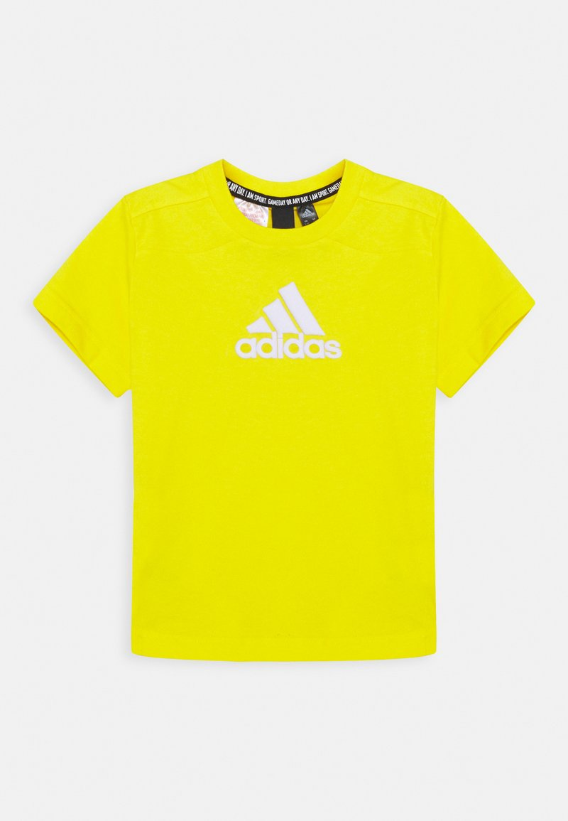 adidas Performance - UNISEX - T-shirt z nadrukiem - yellow/white