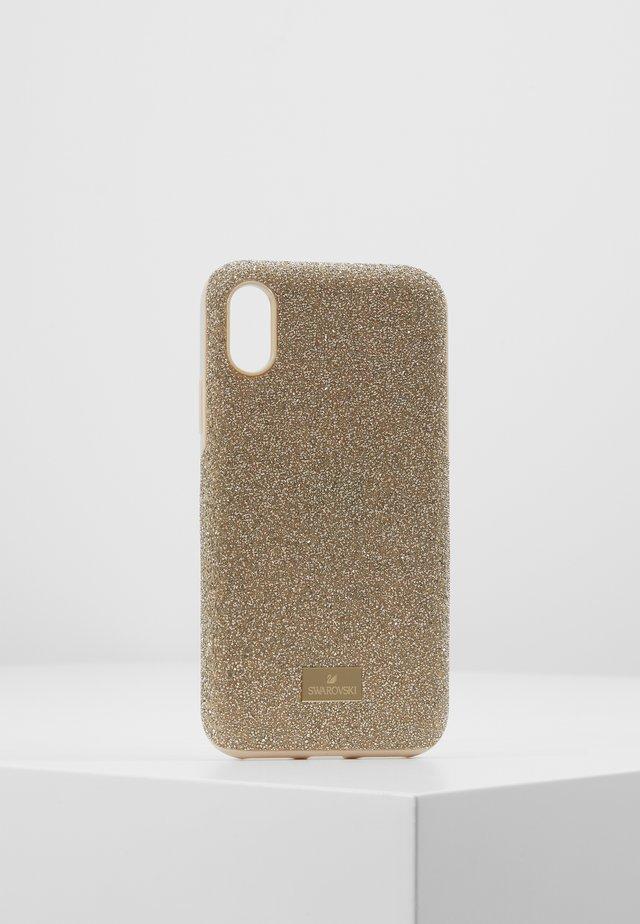 HIGH IPHONE X/XS  CASE - Kännykkäpussi - gold-coloured