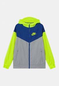 Nike Sportswear - Training jacket - light smoke grey/game royal/volt - 0