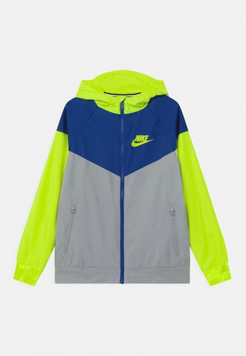 Training jacket - light smoke grey/game royal/volt