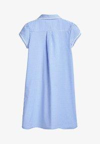 Next - RED BUTTON FRONT LACE GINGHAM DRESS (3-14YRS) - Košilové šaty - blue - 1